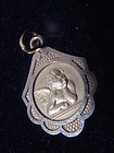 18k Art Nouveau Style Angel Charm~Pendant
