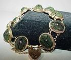 Antique 15K Gold Beetle Bracelet