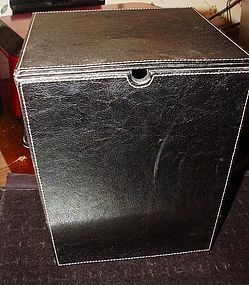 Trapezoid Leather Box ~ 9.25""