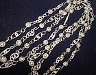 Hand Made Silver Filigree Chain  66""