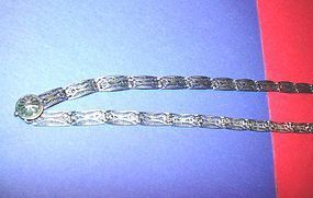European Silver Filigree Belt