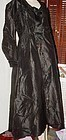 Victorian Black Satin Mourning Coat