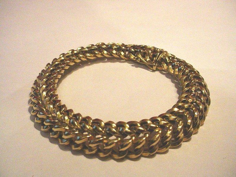 18k Gold European Bracelet