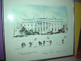 1980 Presidential Christmas Print ~ Jimmy Carter