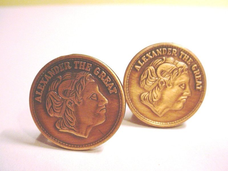 Alexander the Great Copper Cufflinks