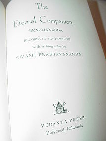 The Eternal Companion: Brahmananda, His Life and Teachings