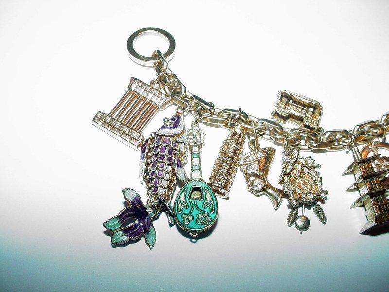 A Heavy Gold Charm Bracelet ~ 82Gr