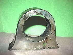 Silver Enamel Clock Case