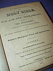 The Holy Bible~ Old + New Testaments ~H. & E. Phinney 1842