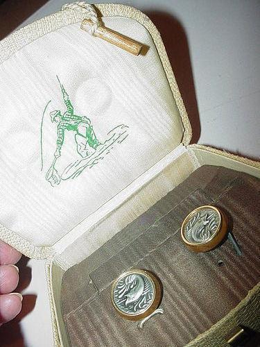 Anson Mixed Metals Fish Cufflinks w/ Box