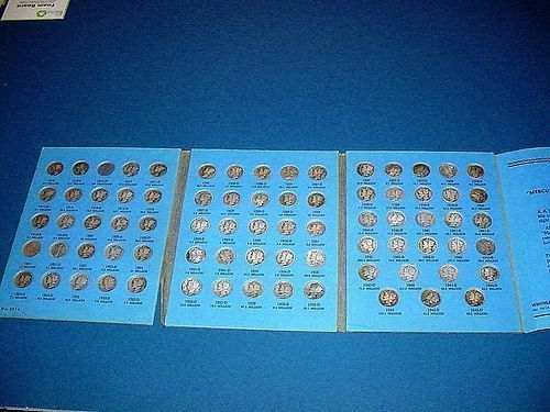 1916 ~1945 Mercury Dime Set ~ 76 Coins