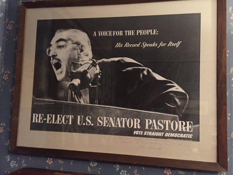 60's Senator John O. Pastore (RI) Campaign Poster ~ Signed
