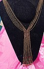 Art Deco Style Beaded Flapper Necklace