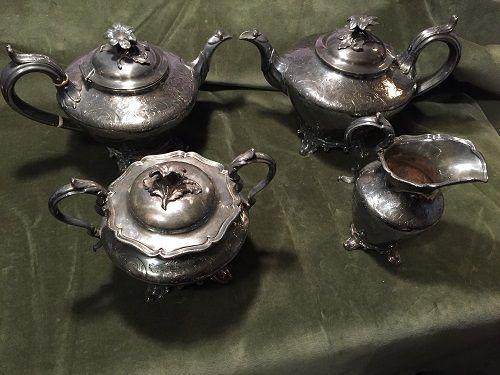 James Dixson Sheffield 4Pc. Coffee + Tea Set