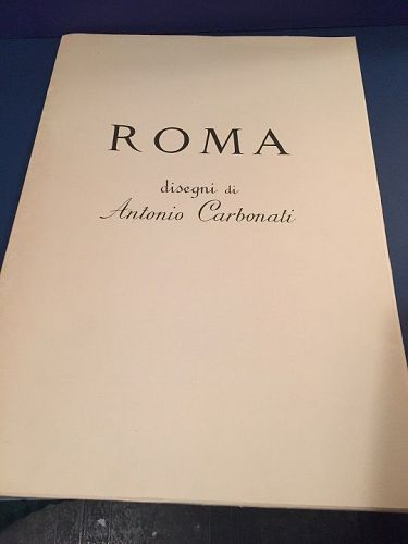 Ten (10) Antonio Carbonati Italian Roman Etchings w/ Folder