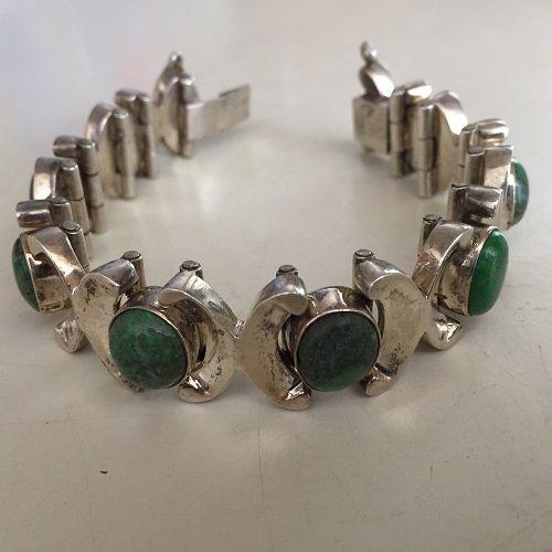 Los Ballesteros Sterling Turquoise Bracelet