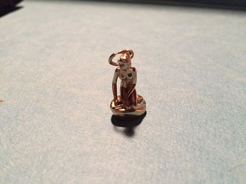 14K Lady of the Harbor Mermaid Charm ~ Denmark