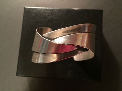 Modernist ORB  Sterling Cuff