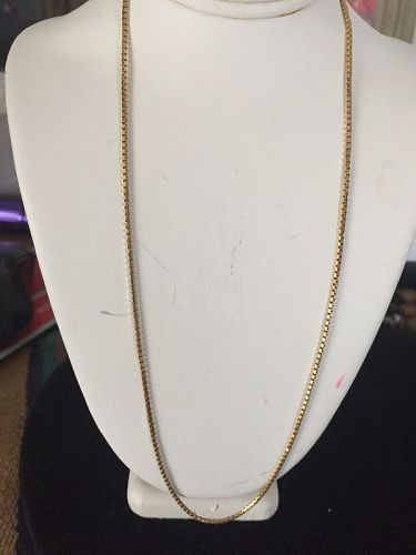 "18k Gold Baht Box Chain 17"" ~ 6.3Gr"
