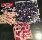 HUGE Lot of McGovern-Shriver 1972 Presidential Election Memorabilia