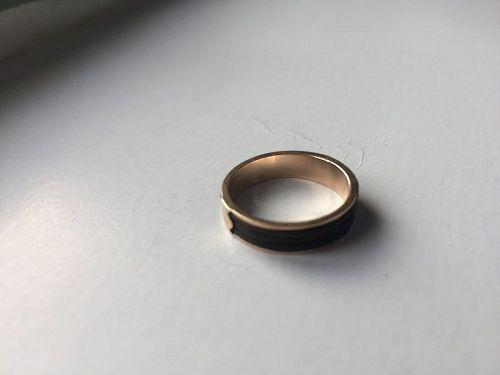 10k Rose Gold Elephant Hair Ring