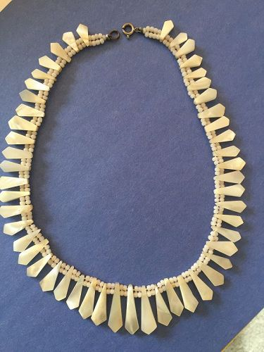 Vintage MOP Cleopatra Necklace