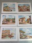 Six Italian Landscape Prints