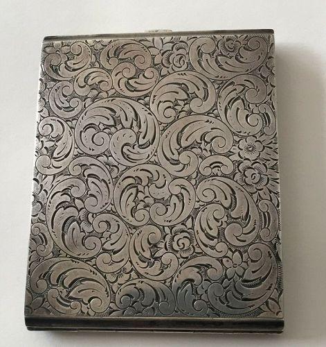 Antique 900 Silver Czechoslovakian Cigarette Case