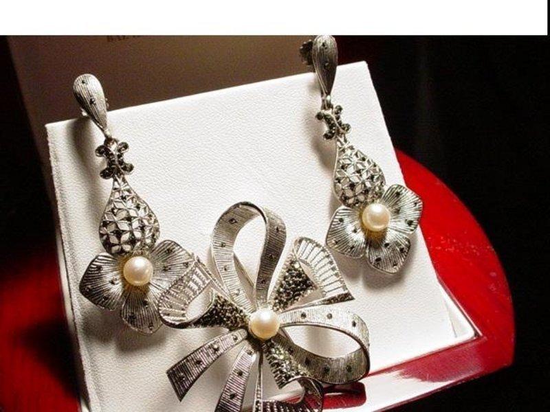 Theodor Fahrner Sterling Cultured Pearl Set