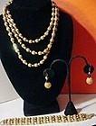 Crown Trifari Gold Bead Set ~ Book Piece