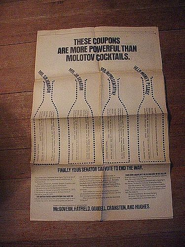 McGovern~Hatfield~Goodell... '70's End The War  Ad