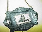 French Art Nouveau WM Plaque~Notre Dame Cathedral