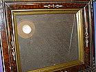 19thC Antique Faux Tortoise Frame