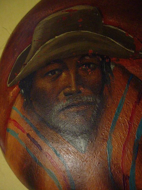 Six Old Bolivian Copper Folk Art Paintings
