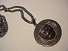 Mexican Sterling Mayan Calendar + Face Pendant