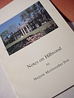 2nd Printing~  Notes on Hillwood by Majorie M. Post