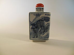 Qing Blue and White snuff bottle
