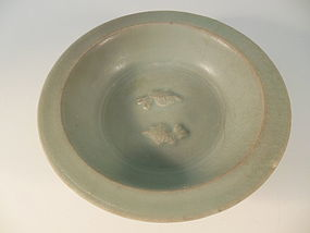 Song Dynasty Twin Fish Celedon Plate