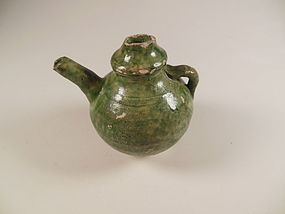 Tang Dynasty Green Glaze Wine Ewer