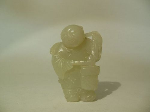 Jade carving of a Figure