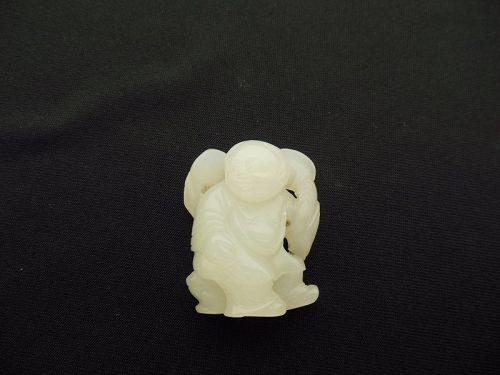 Qing Dynasty Jade Carved Figure