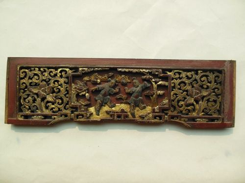 Carved Gilt Wooden Panel 19th Century