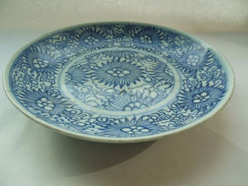 Qing Dynasty Blue and White Plate