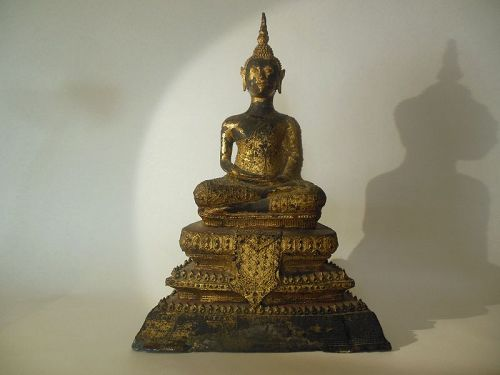 Gilt Thai Bronze Buddha