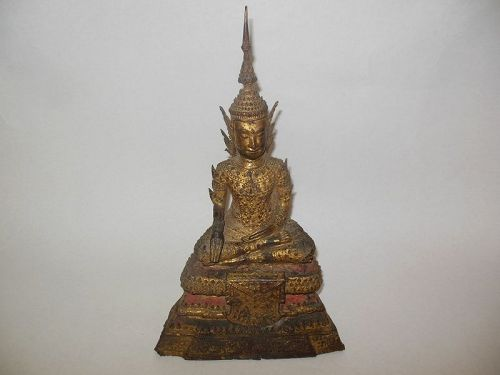 Thai Bronze Gilt Buddha