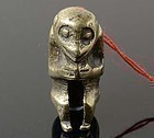 Chinese Brass Toggle of Monkey