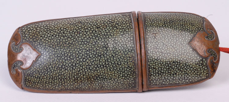 Antique Chinese Shagreen Glasses Case
