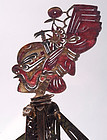 Antique Chinese Leather Shadow Puppet