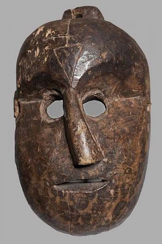 Antique Nepalese Grotesque Mask