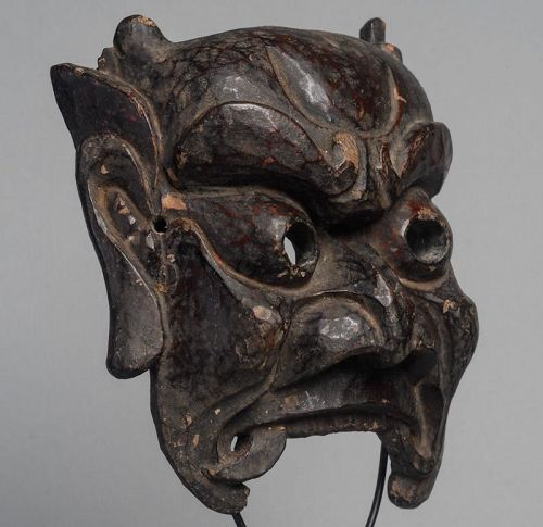 Antique Chinese Nuo Mask of  Kui Xing